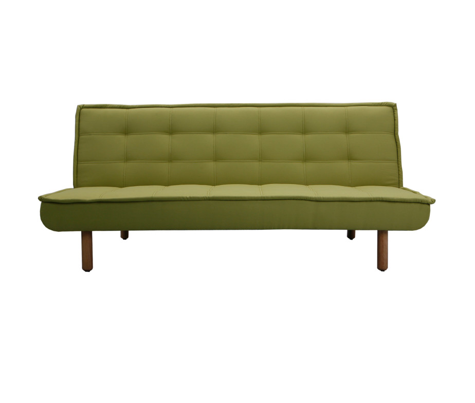 Mb 140 green fabric sofa bed modern life home inc for Modern furniture inc