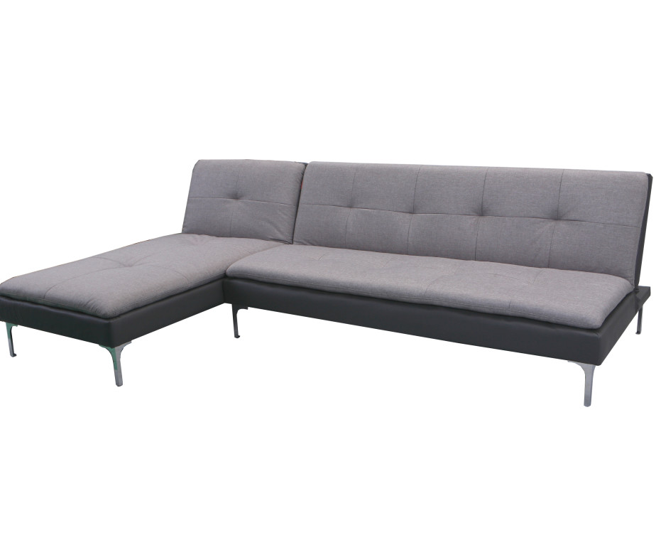 MB-050 Grey Fabric 2PC Sectional Sofa Bed Set